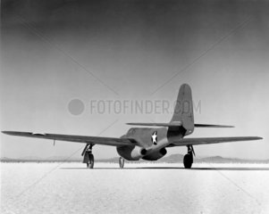 Bell XP-59A  Muroc Lake  California  c 1942.