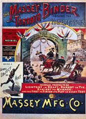 Poster advertising Massey's Toronto Binder  c 1890.
