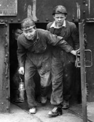 Mine students at Gresford Colliery  Wrexham  Wales  14 April 1947.