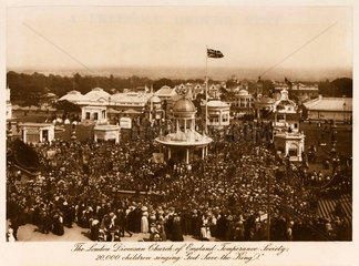 20 000 children sing 'God Save the King'  Crystal Palace  Sydenham  c 1911.