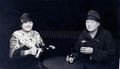 Two women drinking beer  Great Yarmouth  Norfolk  1920-1930s.
