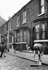 Terraced housing  Archie Street  Salford  Greater Manchester  May 1962.