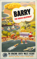 'Barry for Varied Enjoyment'  GWR poster  c