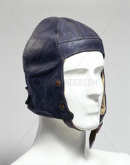 Leather flying helmet  Air Ministry  c 1920.