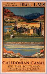 'Caledonian Canal'  MacBrayne/LMS poster  c 1930s.