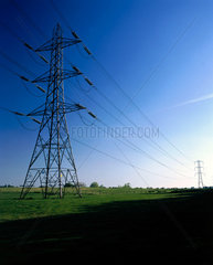 Electricity pylon in rural setting  1997.