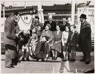 Emigrating to Australia  1949.