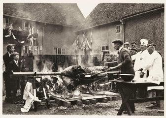 'Roasting the Ox'  1937.