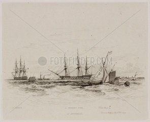 'A Seventy Four at Spithead'  1829.