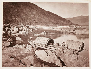 'A Rapid Boat'  c 1871.
