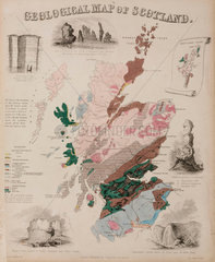 'Geological Map of Scotland'  c 1850's.