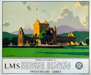 'Sweetheart Abbey'  LMS poster  1923-1947.