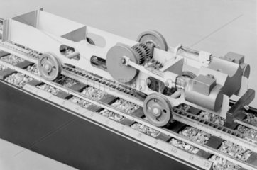 1:16 scale model of chassis of a Riggenbach� ladder.