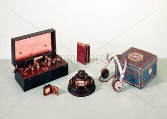 Crystal radio sets  c 1920s.