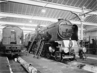 Painters at Doncaster works  South Yorkshire  1947.