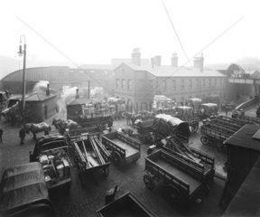 Goods yard  Paddington Station  London  c 1910.