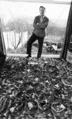 Nat Lofthouse at home  February 1975.