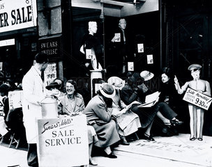 Summer sales at Swears and Wells  London  21 June 1938.