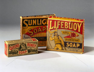 Selection of soaps  c 1890-1914.