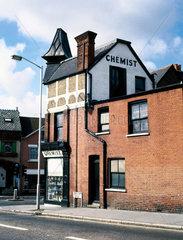 Exterior view of H A Noble's chemist shop  South Croydon  London  c 1970s.