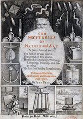 Frontispiece to 'The Mysteries of Nature and Art'  1635.