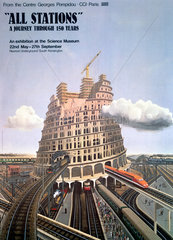 'All Stations: A Journey Through 150 Years'  SM poster  c 1970s.