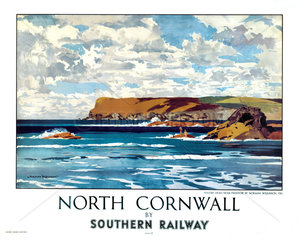 'North Cornwall by Southern Railway'  SR poster.