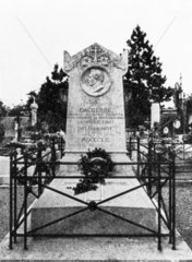 The gravestone of Louis Daguerre  French photography pioneer