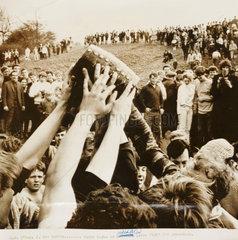 Bottle-kicking in Hallaton  1968.
