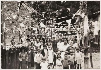 Coronation celebrations in Botley  Oxford  1937.
