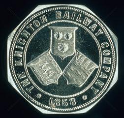 Seal die  Knighton Railway Co  1858.