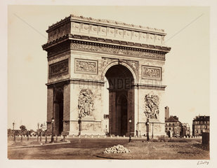The Arc de Triomphe  Paris  c 1865.