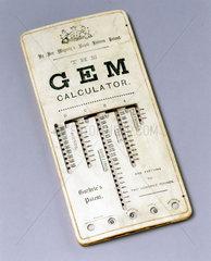 GEM calculator  1890.