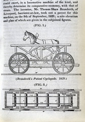 Brandreth's horse-powered locomotive 'Cycloped'  1829.