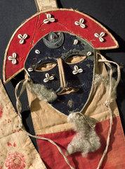 Necromancer's cloth mask  Tibet  1850-1900.