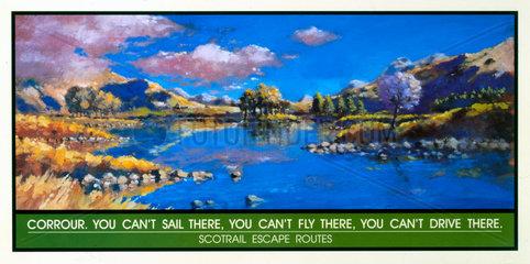 'Corrour'  Scotrail poster  1996.