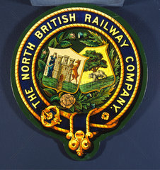 Coat of arms of the North British Railway Company  20th century.