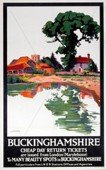 'Buckinghamshire - Cheap Day Return Tickets'  LNER poster  1923-1947.