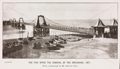 Brighton Chain Pier after the removal of the Esplanade  1871