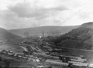 General view of the coal mining community i