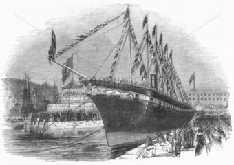Launch of SS 'Great Britain'  1843.