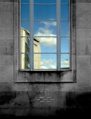 Reflection in a window  Bradford  West Yorkshire  2007.