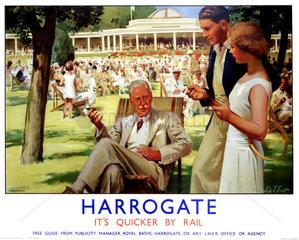 'Harrogate'  LNER poster  c 1930s.