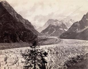 Mer de Glace  near Chamonix  Mont Blanc  France  c 1850-1900.