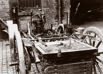 Chassis of a 6 hp Panhard motor car  1898.
