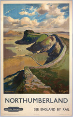'Northumberland - See England by Rail'  c 1955.