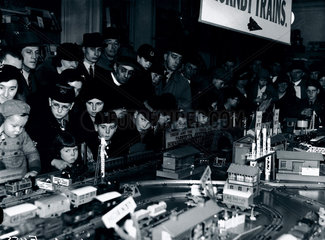 Model trains at Gamages department store  London  16 December 1936.