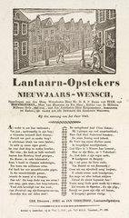 Lamplighters in Maarssen  Holland  poster  1843.