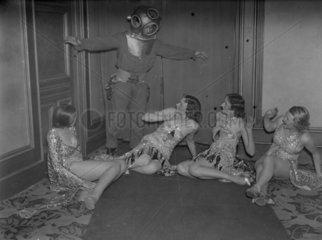 Deep sea diver and dancers  1930s.