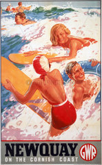 'Newquay'  GWR poster  1937.